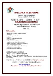 Sourozenecké vztahy - seminář