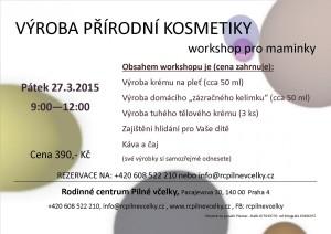 výroba přírodní kosmetiky 27.3.2015