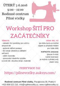 Workshop ŠITÍ PRO ZAČÁTEČNÍKY